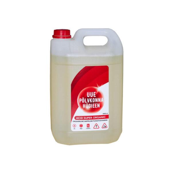 Orgaaniline happeline puhastusvahend